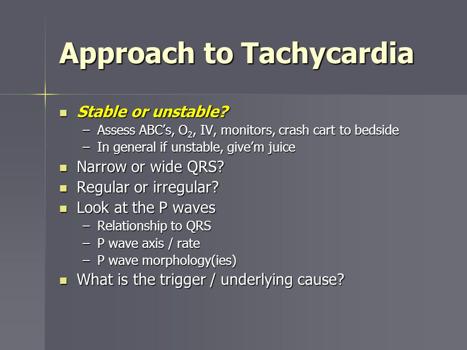 Approach to Tachycardia
