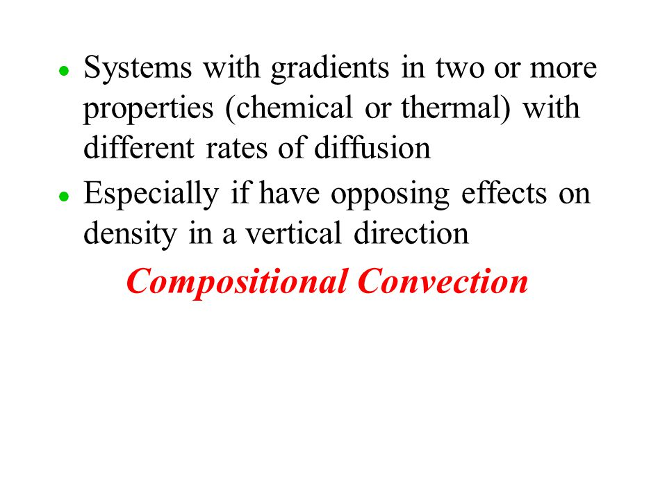 Compositional Convection