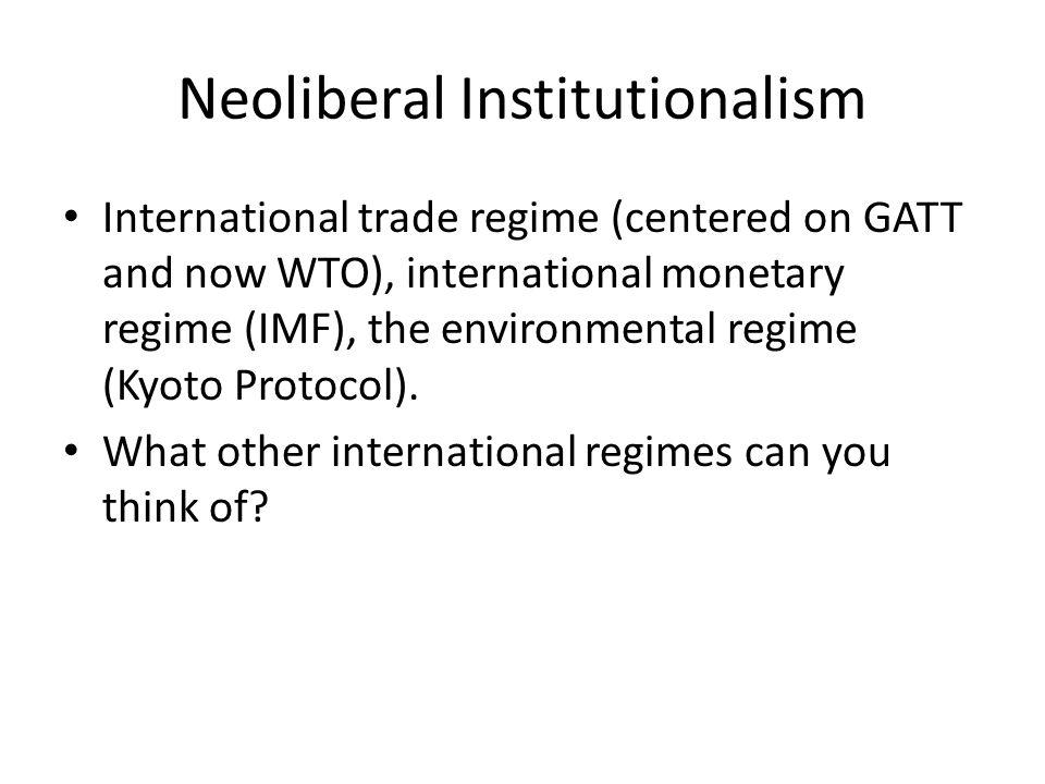 Neoliberal Institutionalism