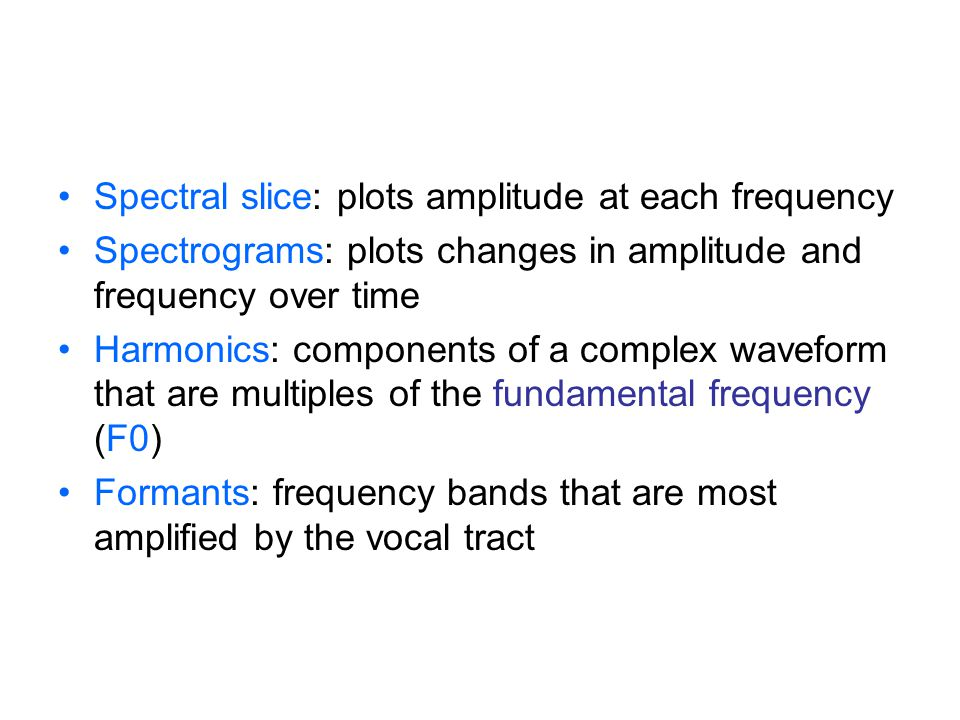 Spectral slice: plots amplitude at each frequency
