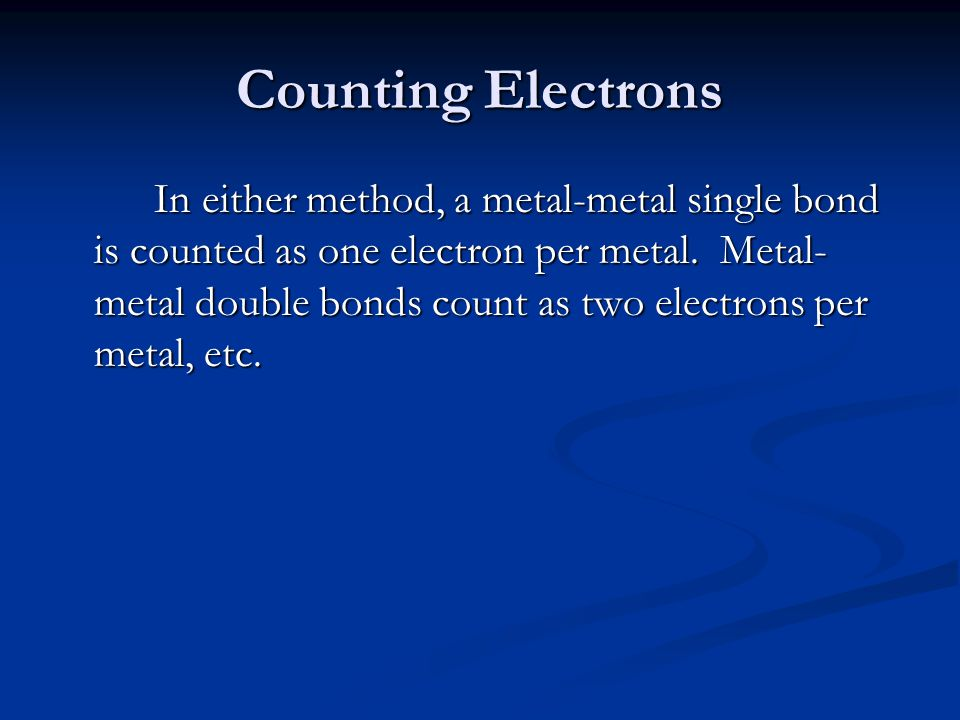 Counting Electrons