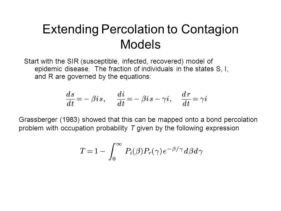 Extending Percolation to Contagion Models