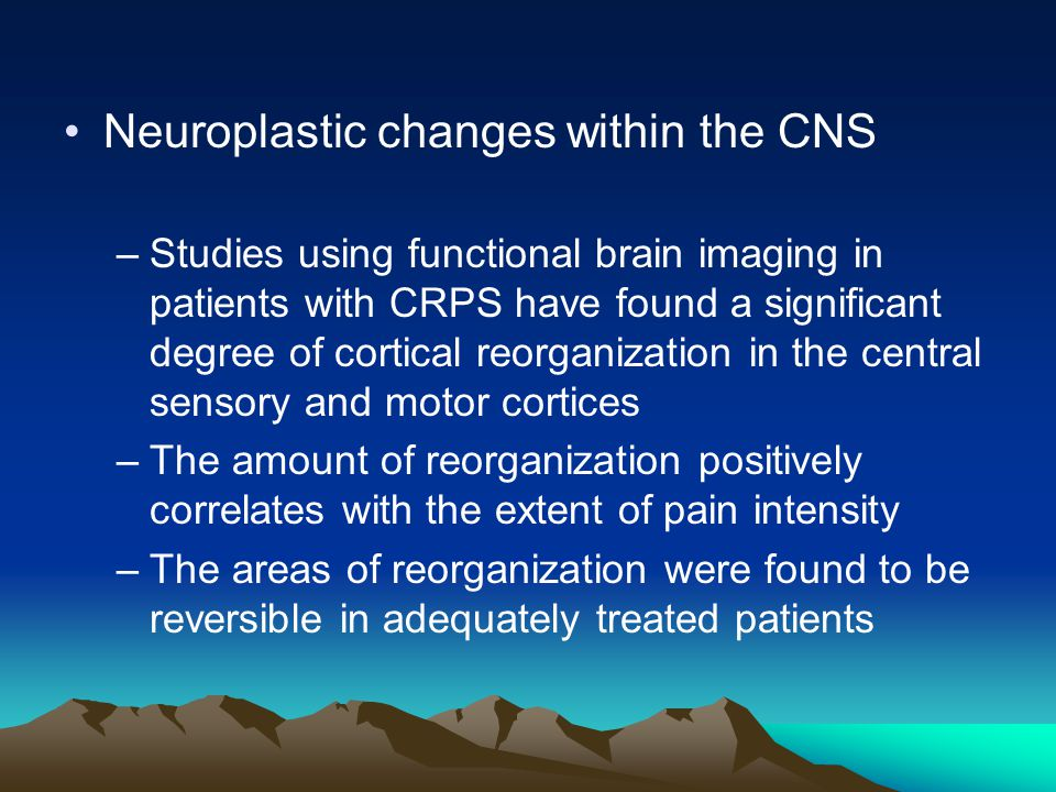Neuroplastic changes within the CNS