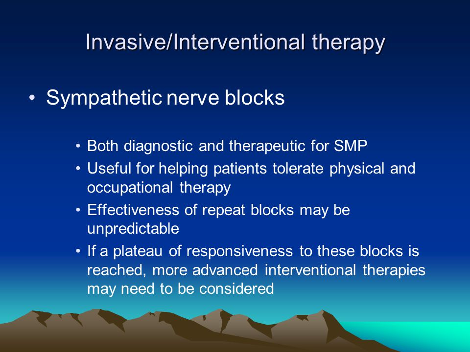 Invasive/Interventional therapy