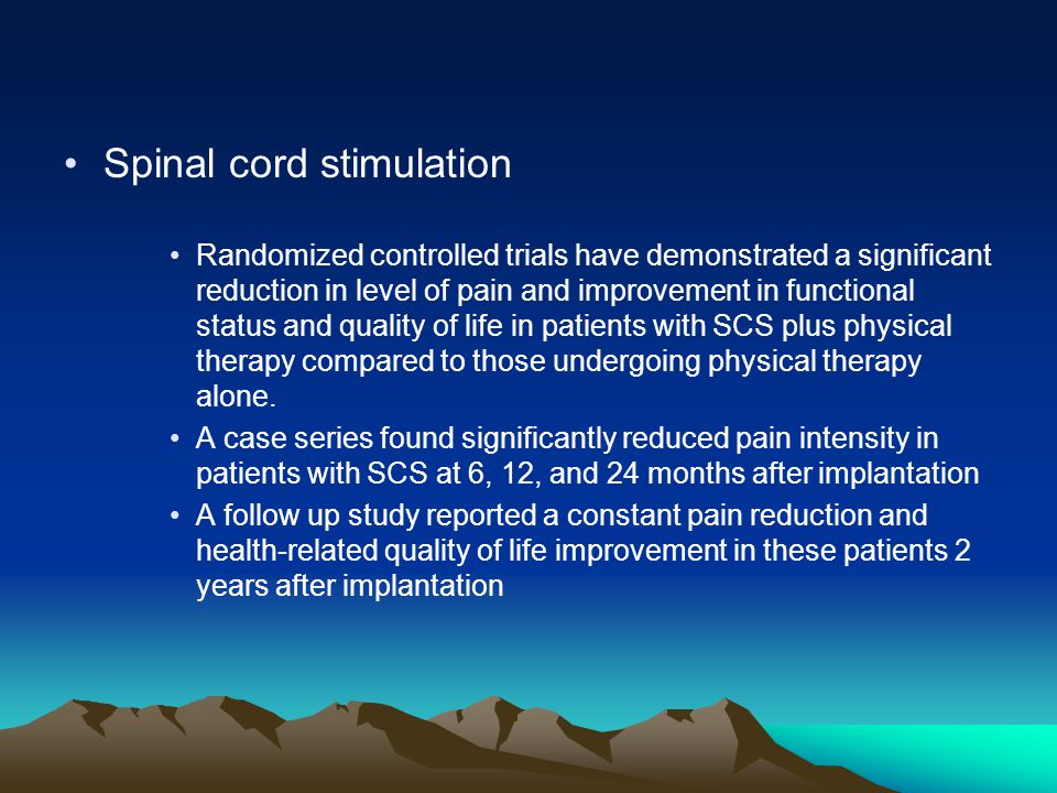Spinal cord stimulation