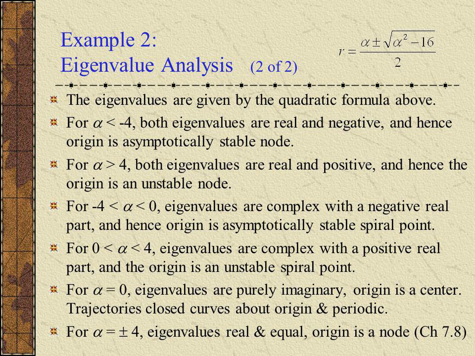 Example 2: Eigenvalue Analysis (2 of 2)