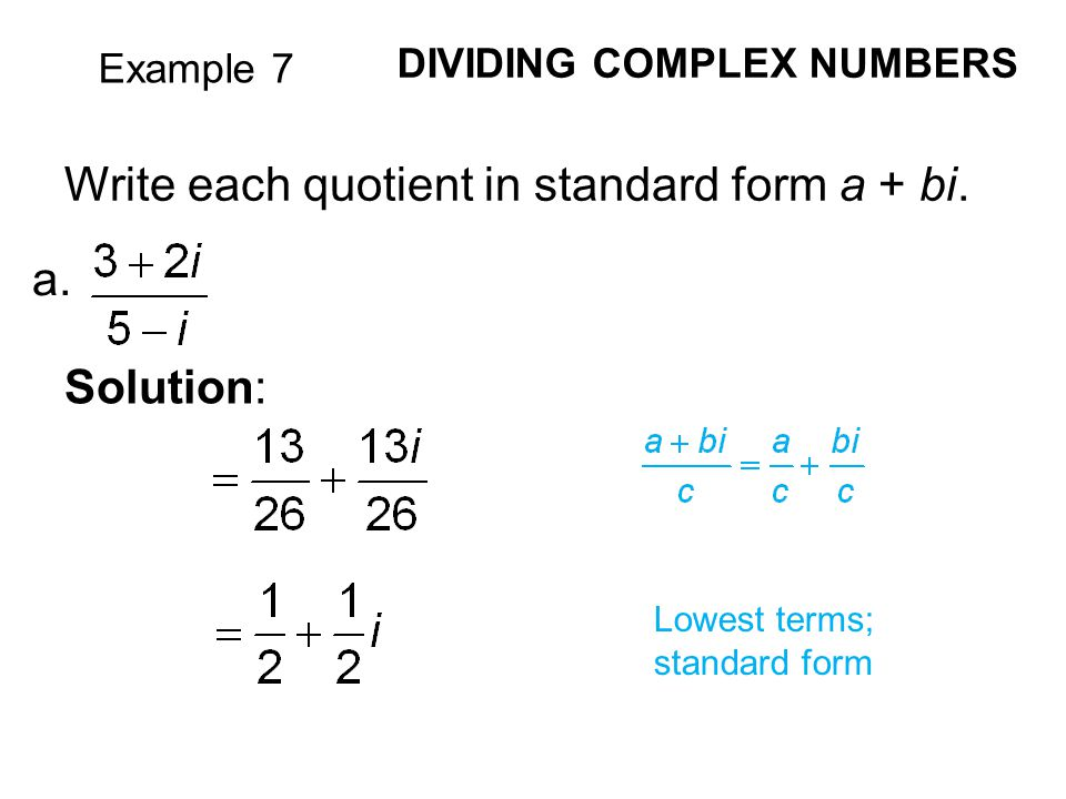 Writing Complex Numbers In Standard Form Custom Paper Academic Service