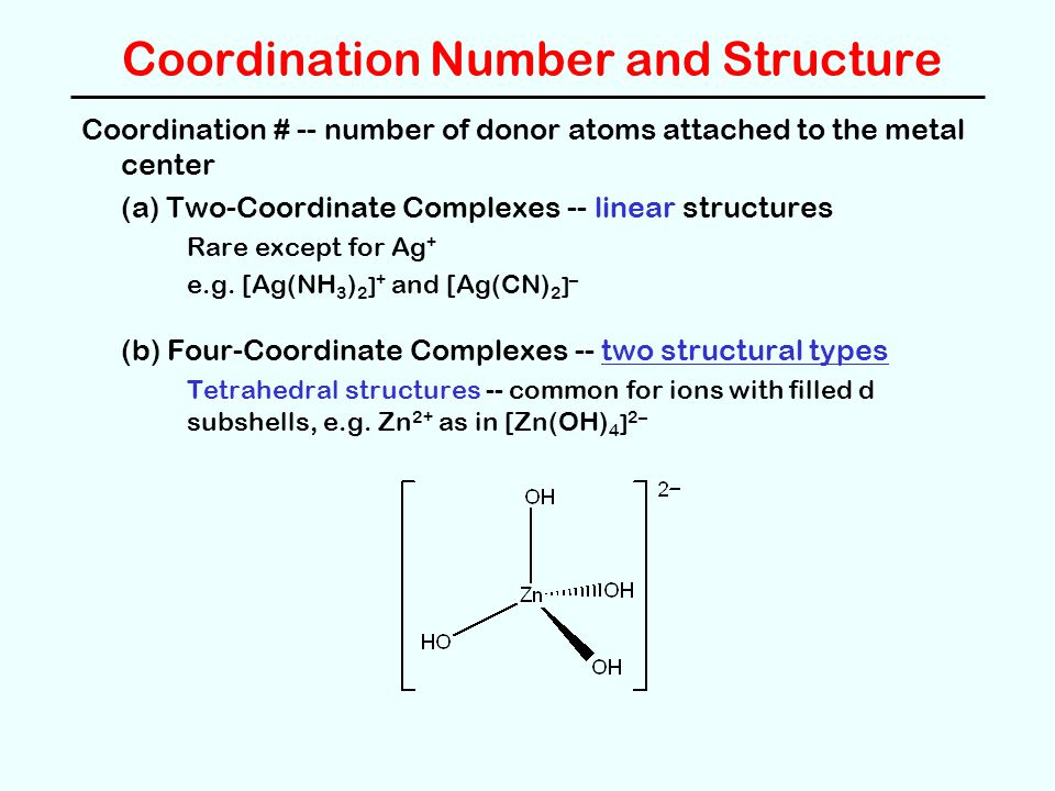 Coordination Number and Structure