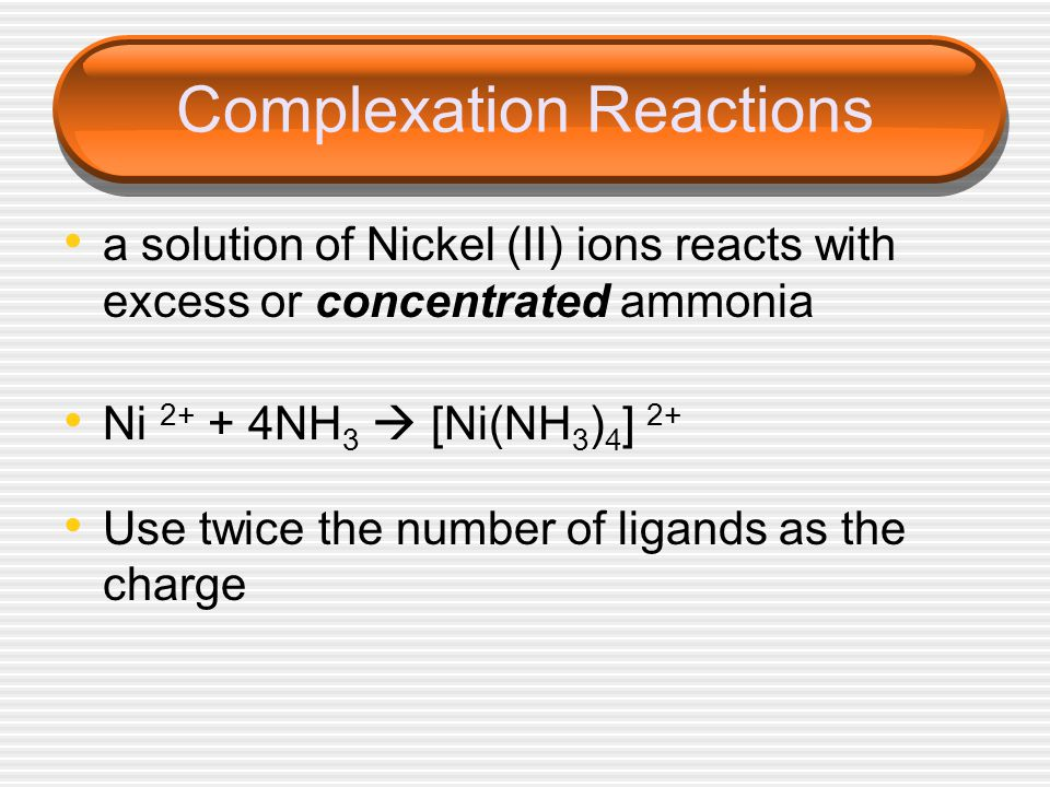 Complexation Reactions