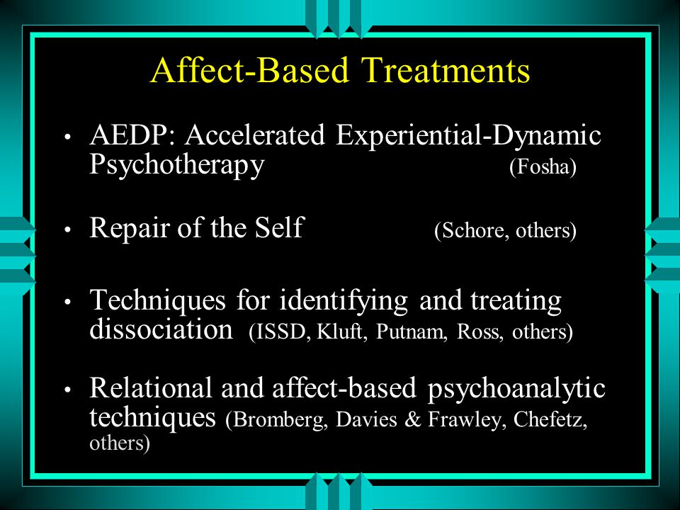 Affect-Based Treatments