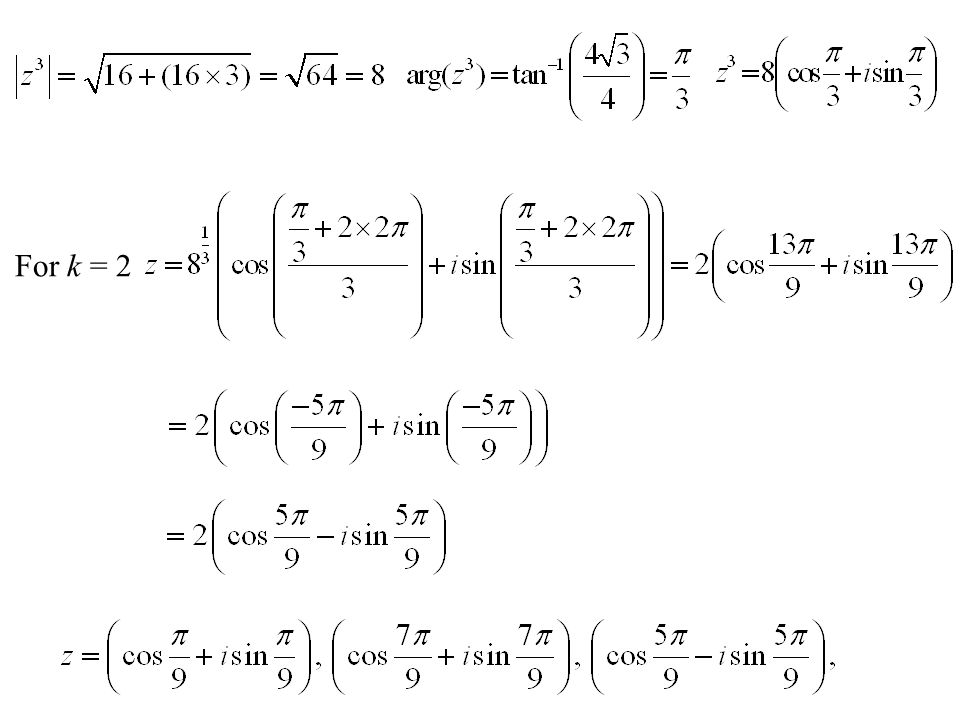 For k = 2