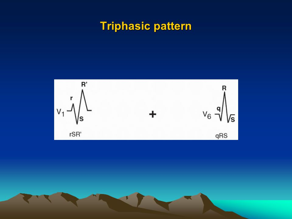 Triphasic pattern