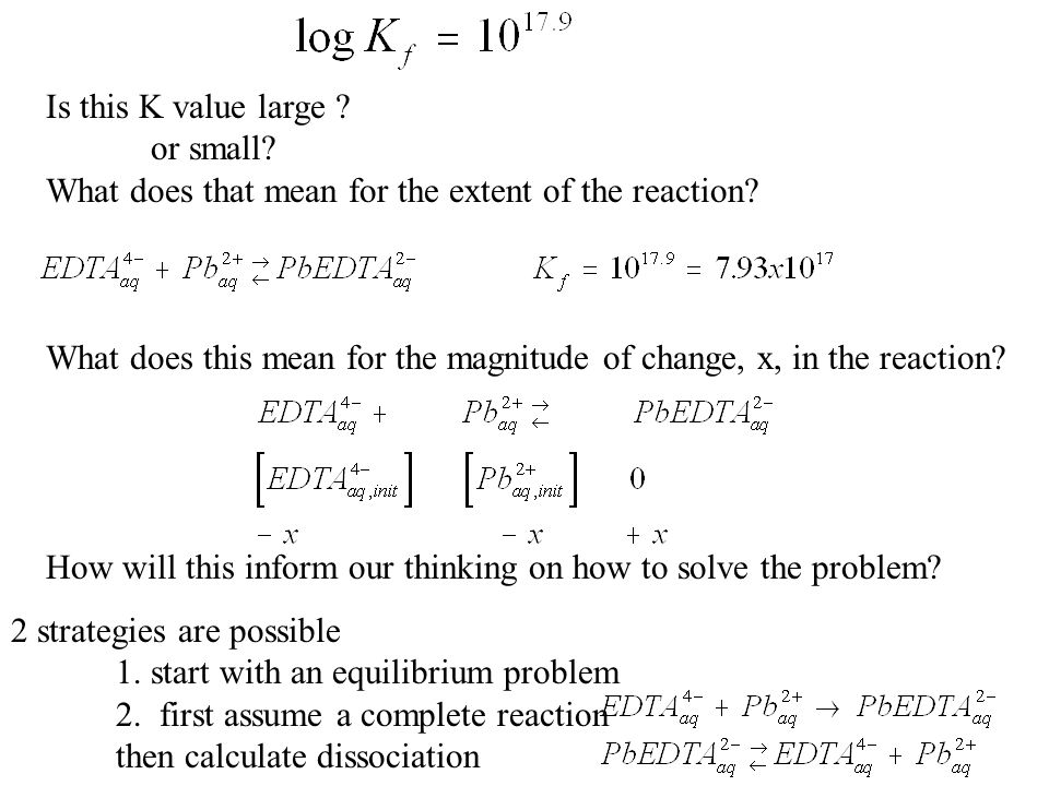 Is this K value large or small What does that mean for the extent of the reaction
