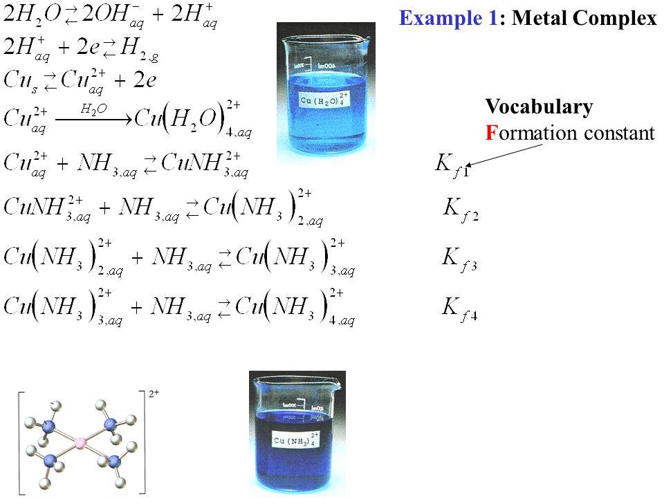 Example 1: Metal Complex