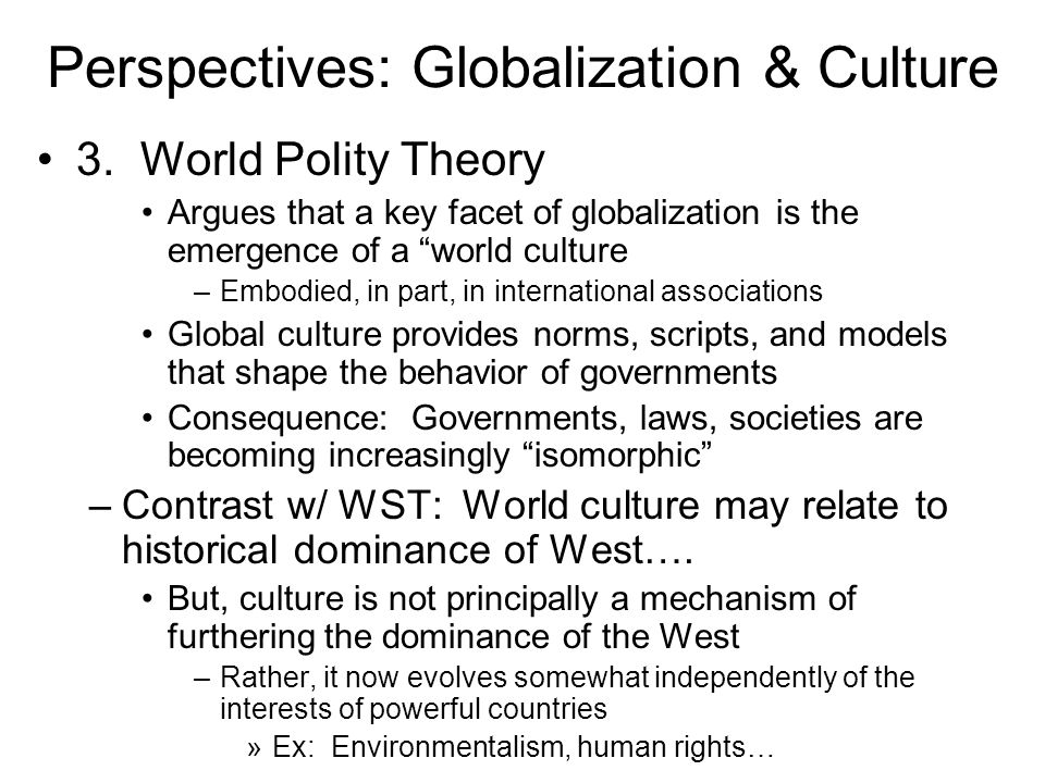 Perspectives: Globalization & Culture