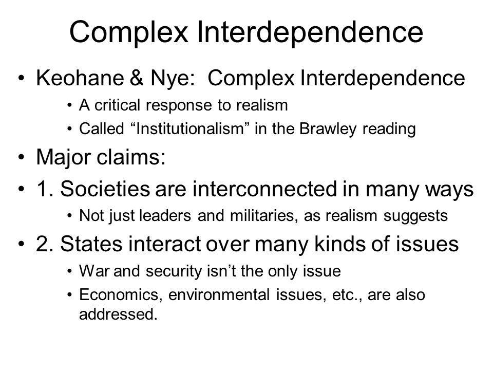 Complex Interdependence