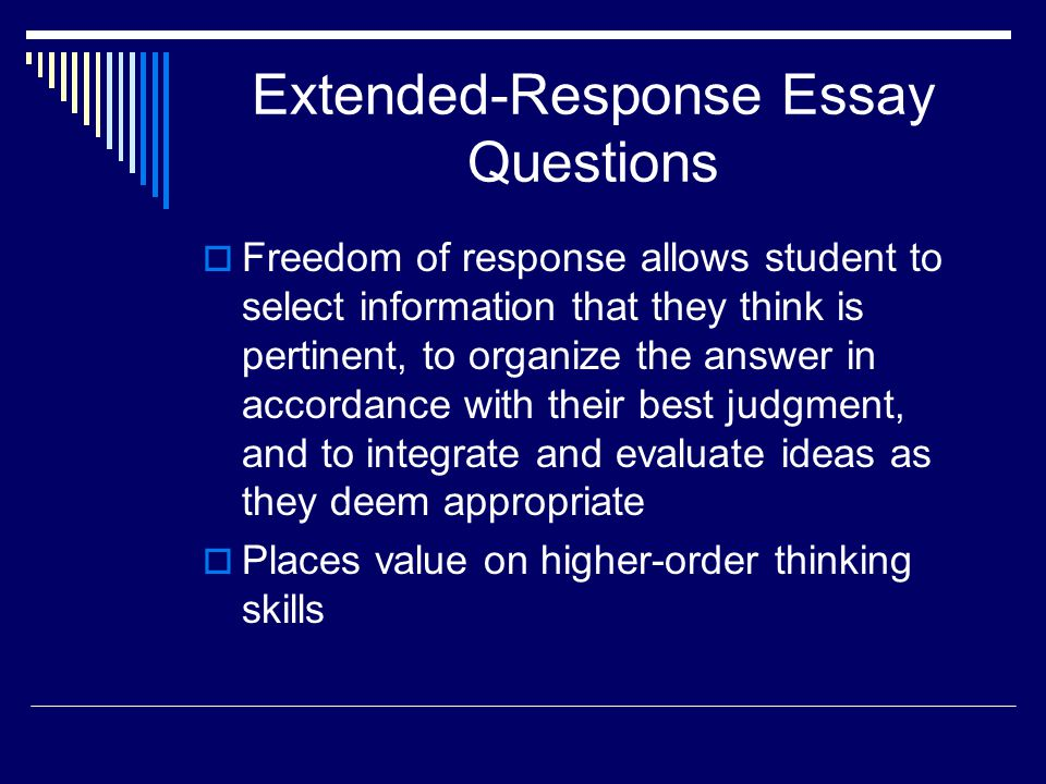 Extended-Response Essay Questions