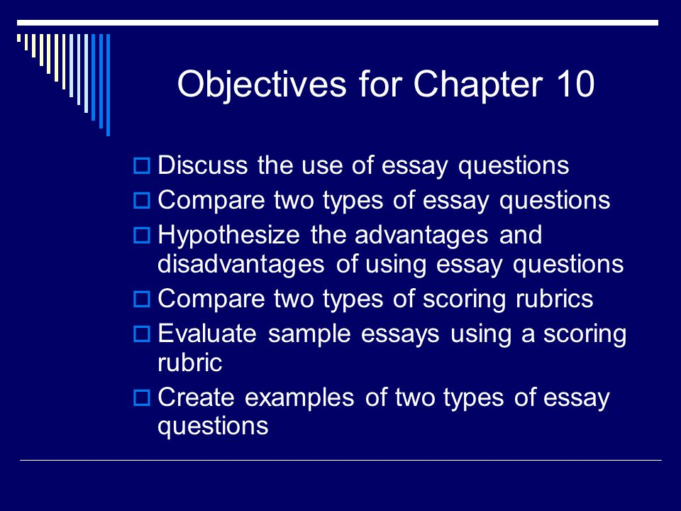 Objectives for Chapter 10