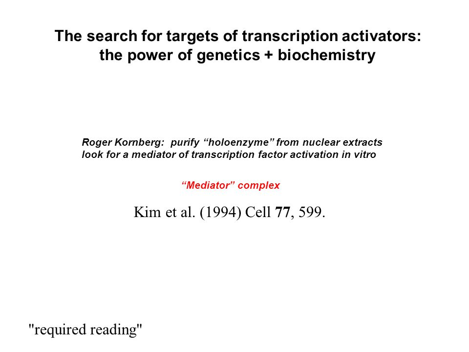 The search for targets of transcription activators: