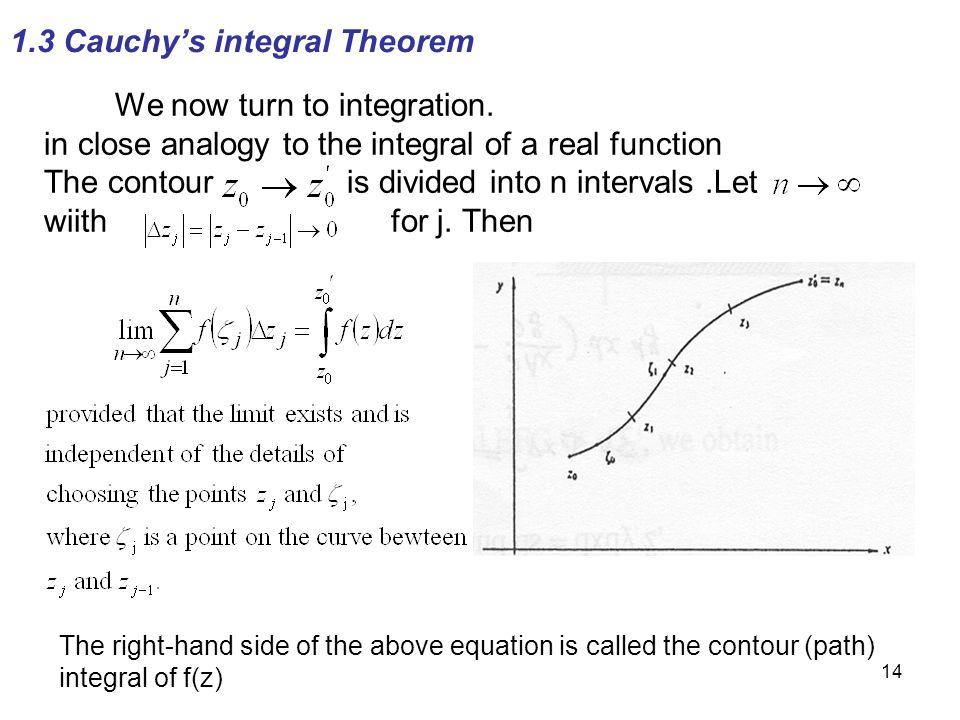 1.3 Cauchy's integral Theorem