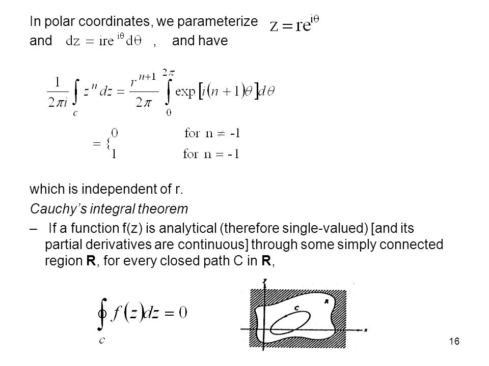 In polar coordinates, we parameterize