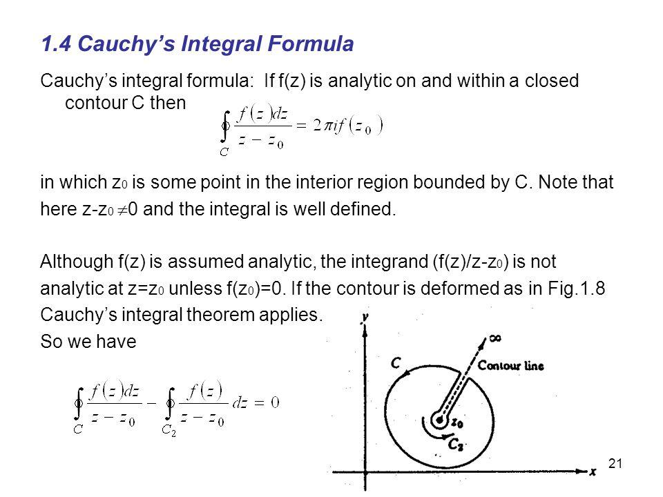 1.4 Cauchy's Integral Formula