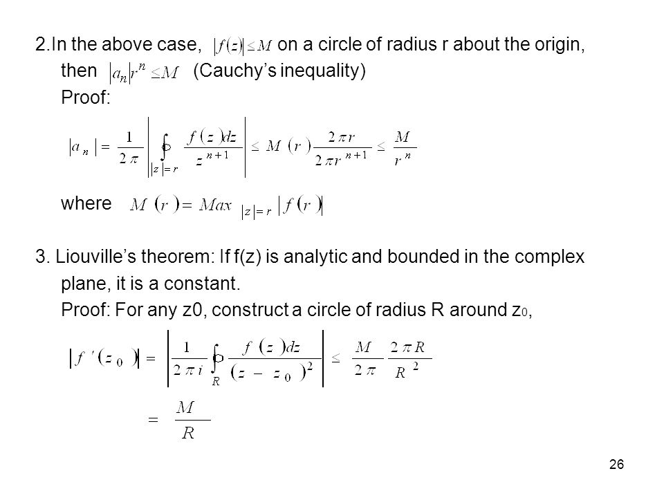 2.In the above case, on a circle of radius r about the origin,