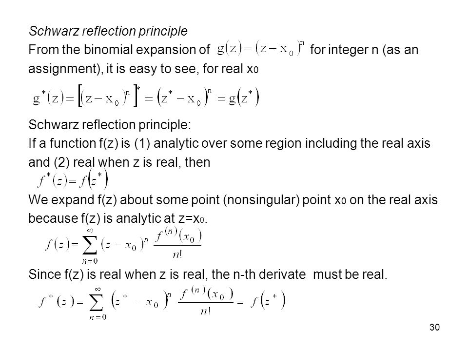Schwarz reflection principle
