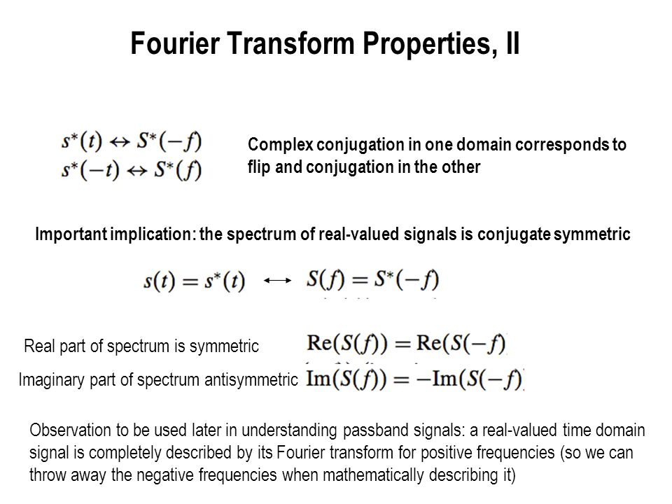Fourier Transform Properties, II