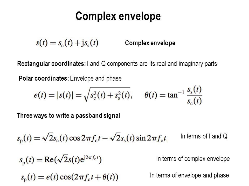 Complex envelope Complex envelope
