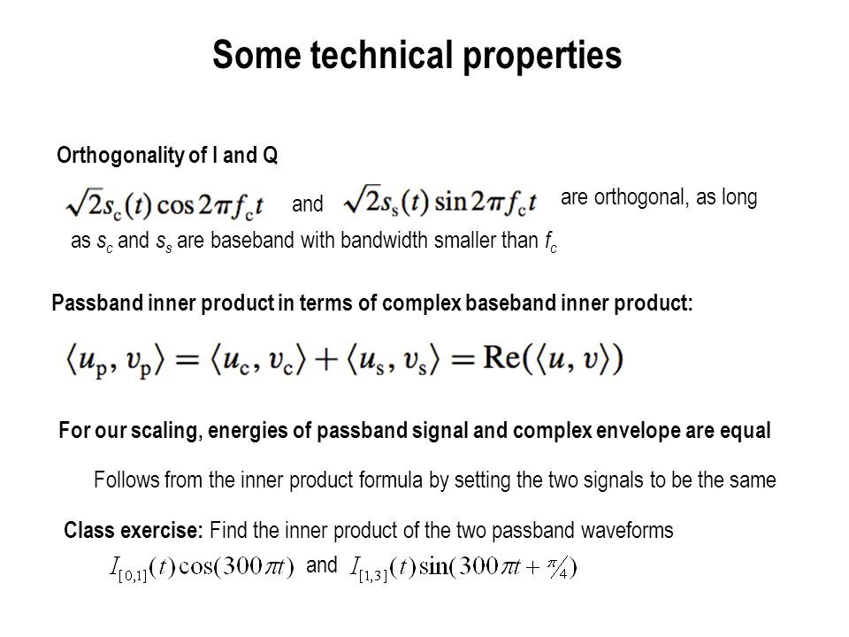 Some technical properties