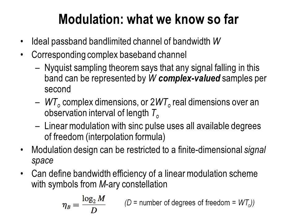 Modulation: what we know so far