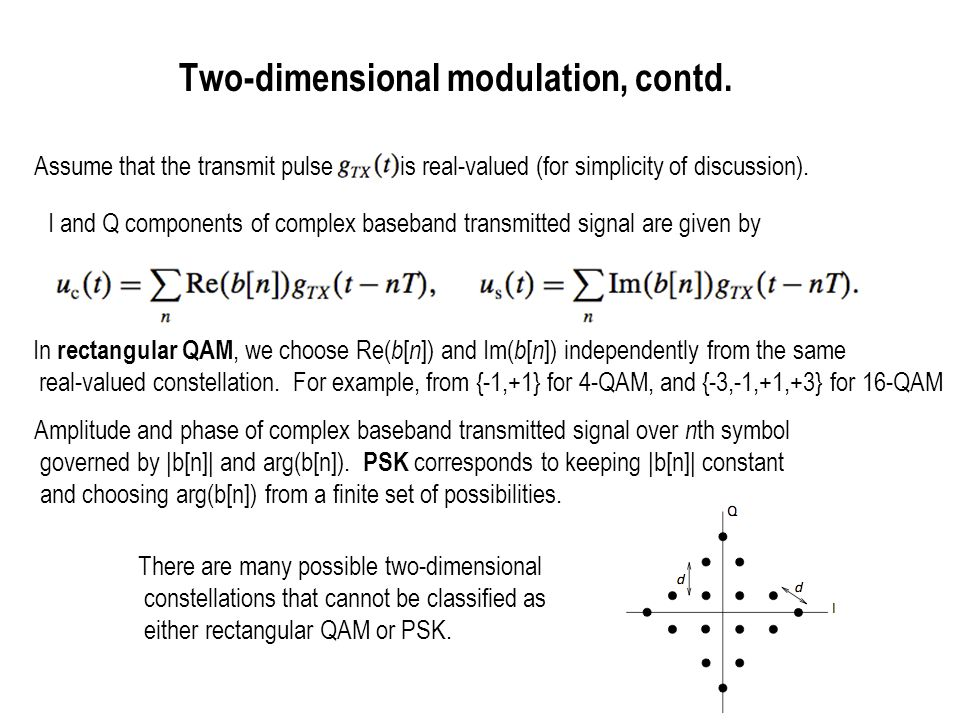 Two-dimensional modulation, contd.