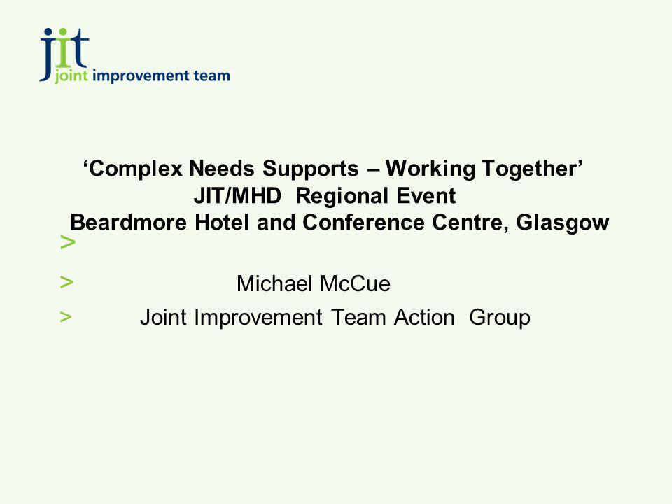 Michael McCue Joint Improvement Team Action Group