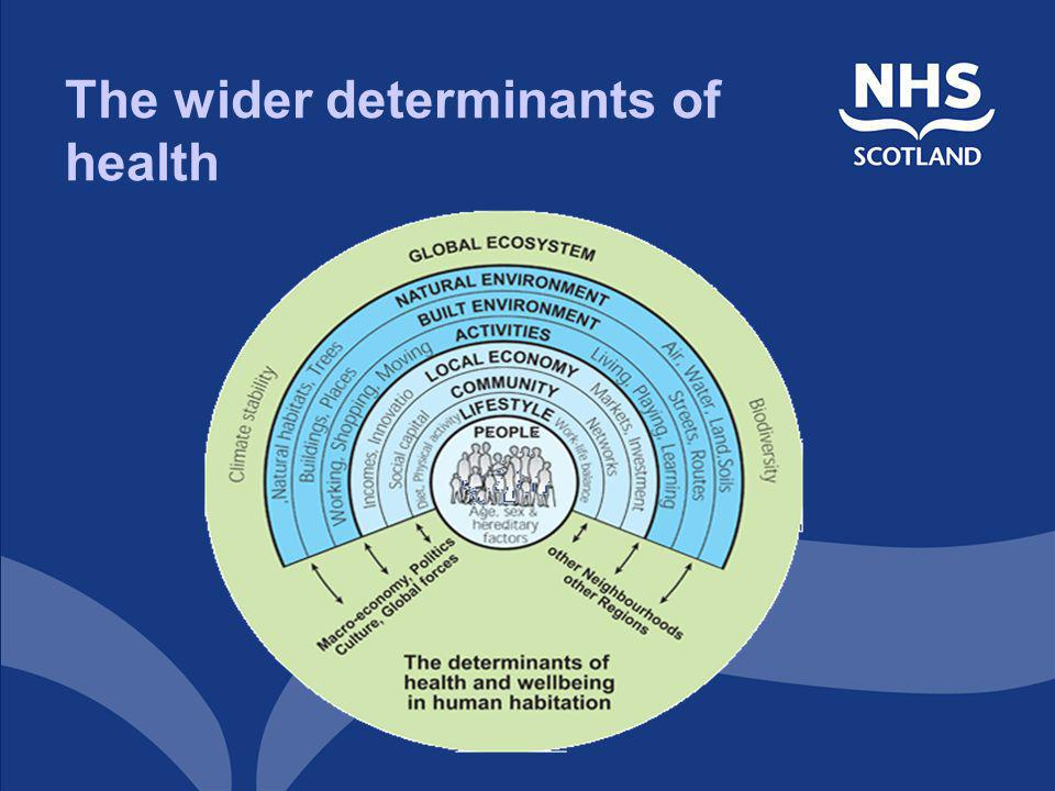 The wider determinants of health