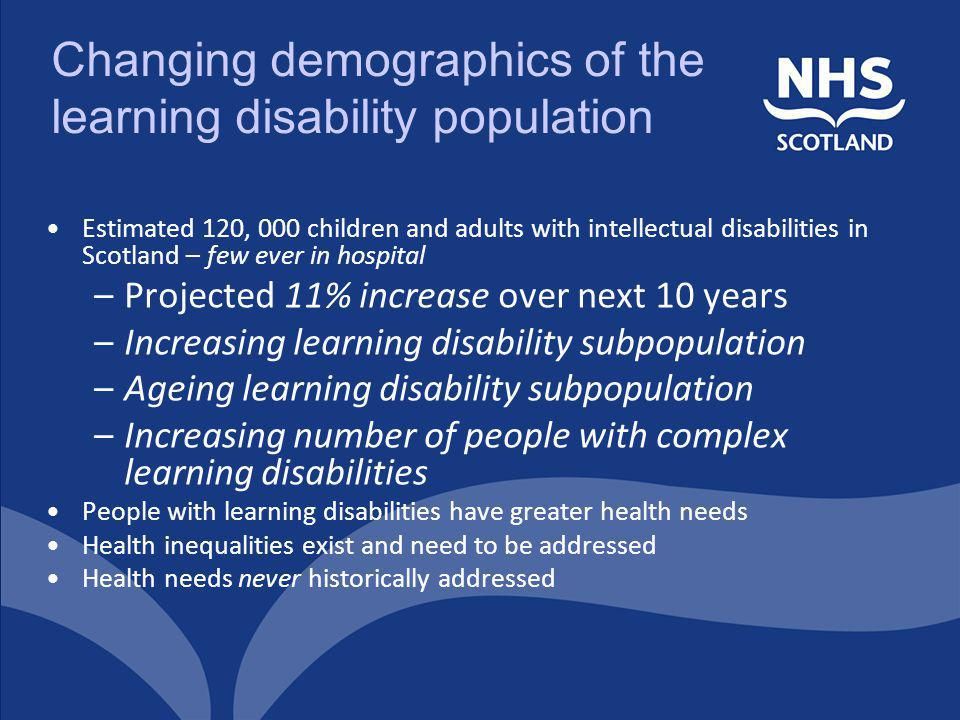 Changing demographics of the learning disability population