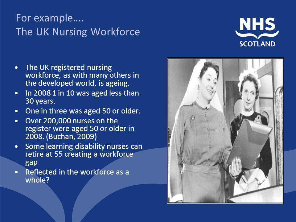 For example…. The UK Nursing Workforce