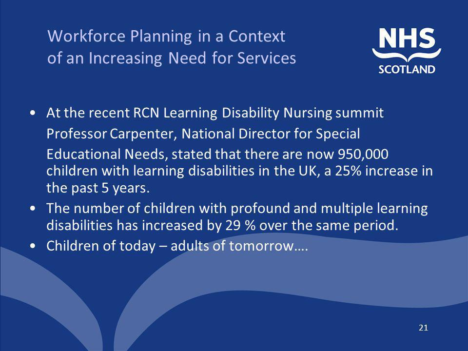 Workforce Planning in a Context of an Increasing Need for Services