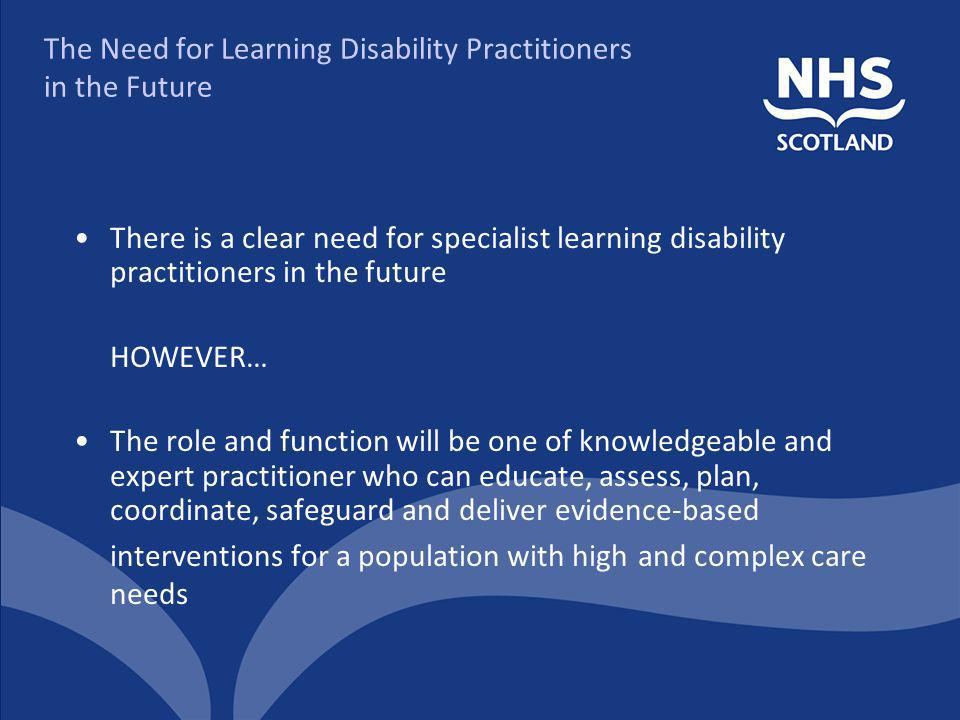 The Need for Learning Disability Practitioners in the Future