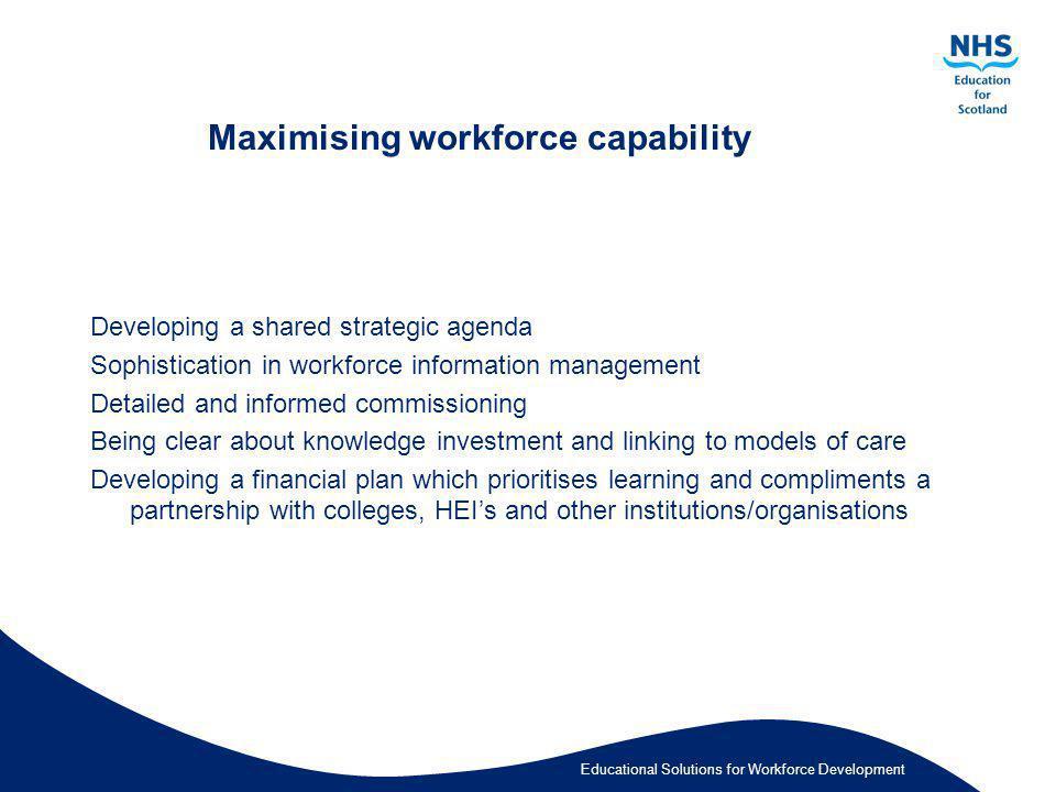Maximising workforce capability