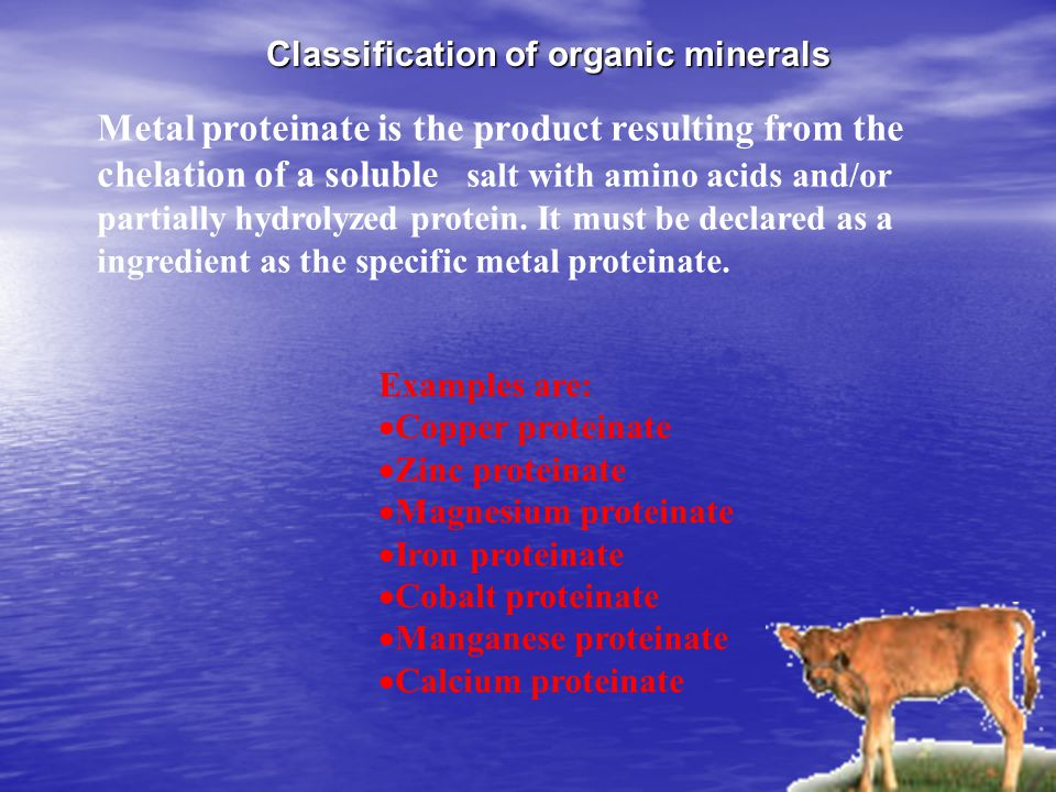 Classification of organic minerals