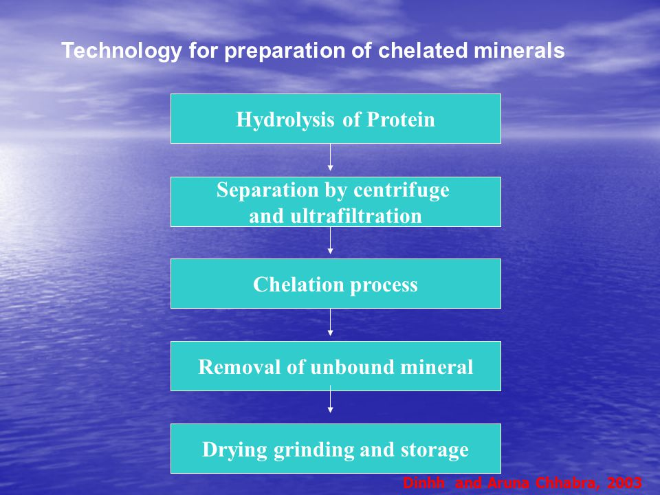 Technology for preparation of chelated minerals