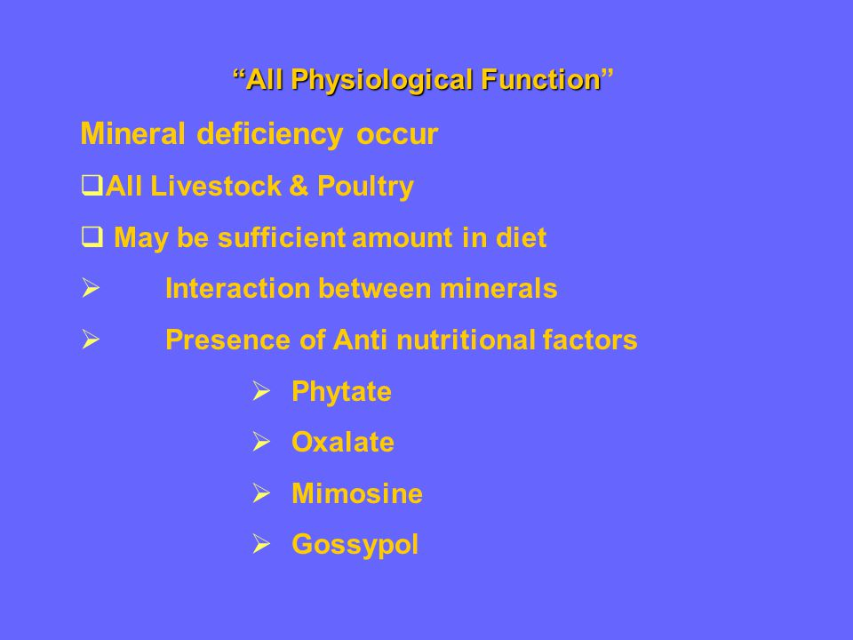 All Physiological Function