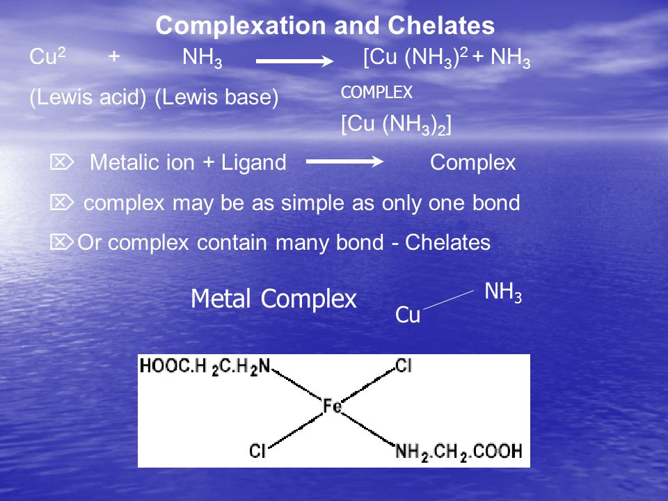 Complexation and Chelates