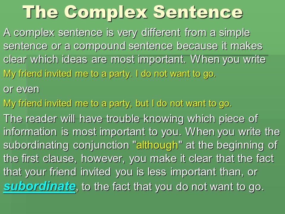 The Complex Sentence