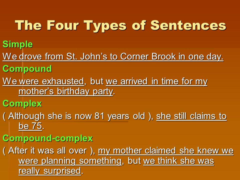 The Four Types of Sentences