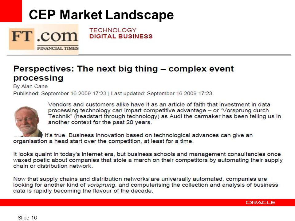 CEP Market Landscape