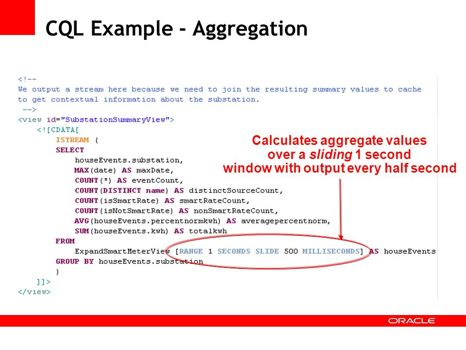 CQL Example - Aggregation