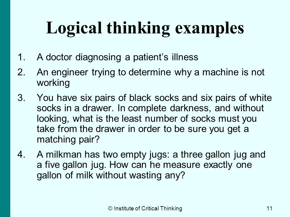 Logical thinking examples