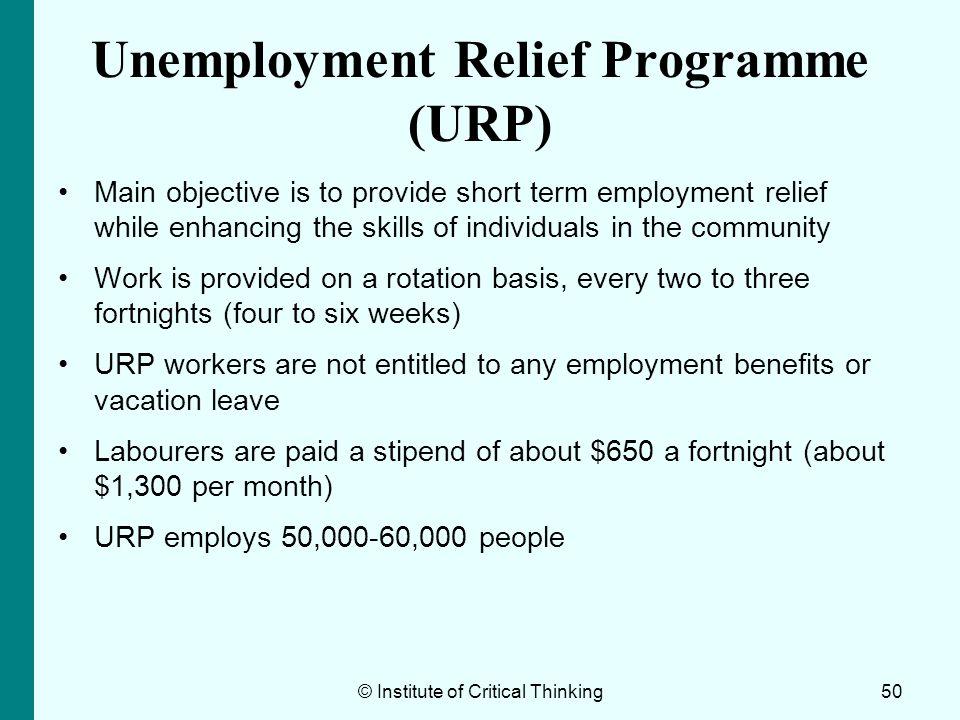 Unemployment Relief Programme (URP)